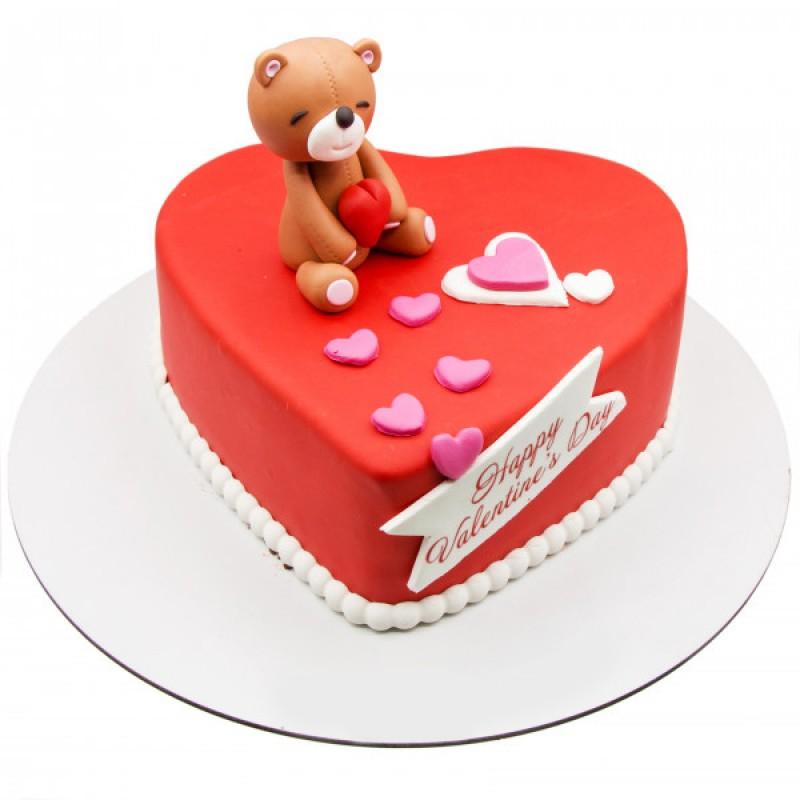 کیک فوندانت ولنتایین