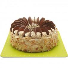 کیک نسکافه و بادام زمینی