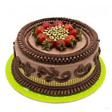 کیک شکلاتی توت فرنگی