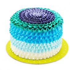 کیک آبی دراپه تولد ناتلی