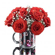 Light Up Kisses Mug with Red Roses a5027