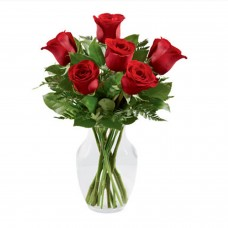 Red Roses Vase Arrangement a1212