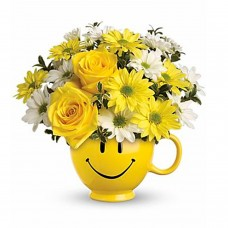 Teleflora's Be Happy Bouquet with Roses a3385